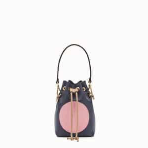 Fendi Blue Stamp Patch Mini Mon Tresor Bag