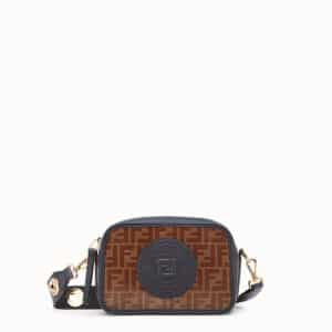 Fendi Brown FF Pattern Canvas Mini Camera Case Bag
