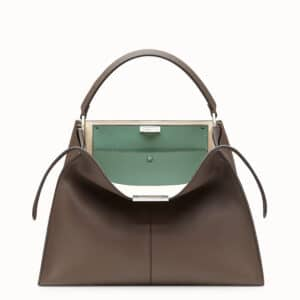Fendi Brown/Aquamarine Peekaboo X-Lite Bag