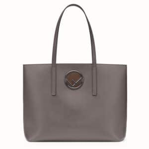 Fendi Gray Shopping Logo Bag