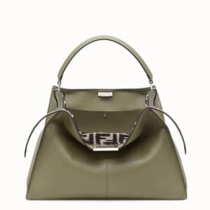Fendi Green Calfskin/Sheepskin Peekaboo X-Lite Bag