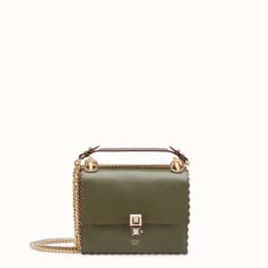 Fendi Green Sheepskin Kan I Small Bag