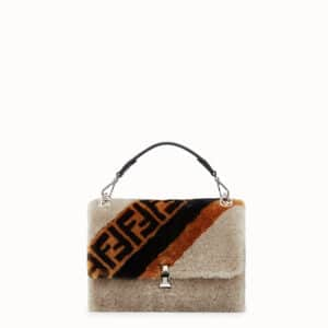 Fendi Multicolor Sheepskin Kan I Bag