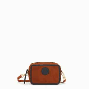Fendi Natural Suede Mini Camera Case Bag