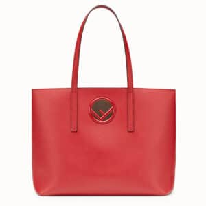 Fendi Red Shopping Logo Bag