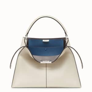 Fendi White Peekaboo X-Lite Bag