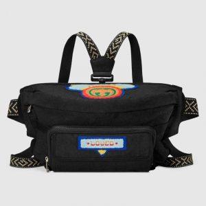 Gucci Black Nylon 80s Belt Bag