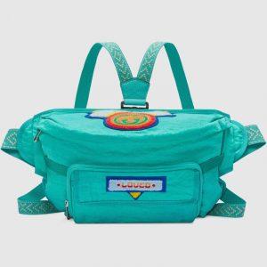 Gucci Bright Blue Nylon 80s Belt Bag