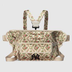 Gucci Floral Tapestry Satin NY Yankees Belt Bag