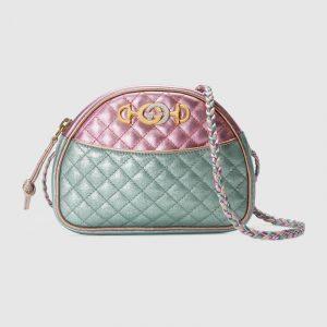Gucci Pink/Blue Laminated Mini Bag