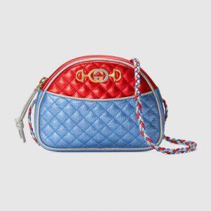 Gucci Red/Blue Laminated Mini Bag