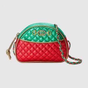 Gucci Red/Green Laminated Mini Bag