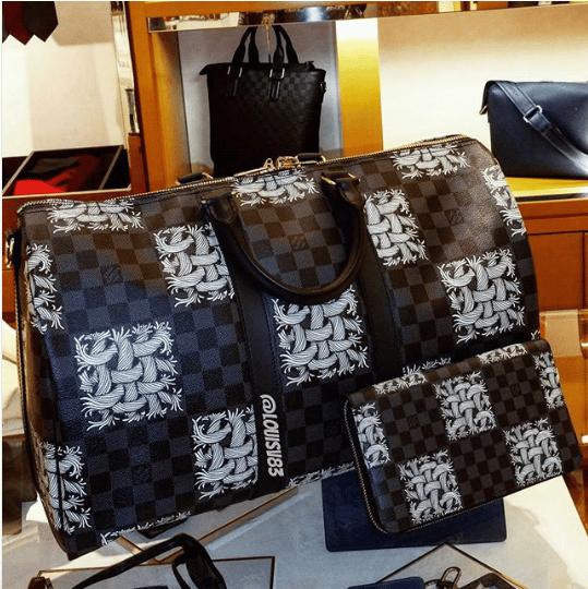 Louis Vuitton Damier Graphite Nemeth Keepall Bandoulière Bag