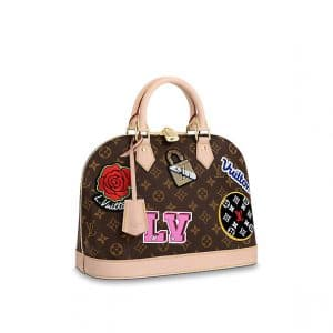 Louis Vuitton Monogram Patches Alma PM Bag