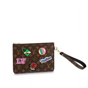 Louis Vuitton Monogram Patches City Pouch Bag