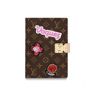 Louis Vuitton Monogram Patches Notebook Cover