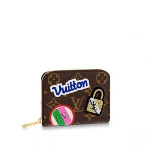Louis Vuitton Monogram Patches Zippy Coin Purse