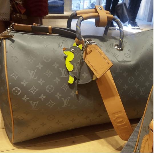 Louis Vuitton Monogram Titanium Keepall Bandouliere Bag
