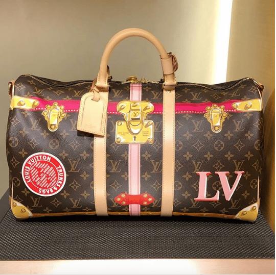 Louis Vuitton Summer Trunks Monogram Canvas Keepall Bandouliere Bag