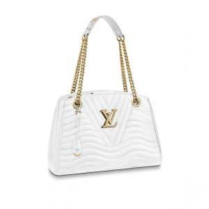 Louis Vuitton White New Wave Chain Tote Bag