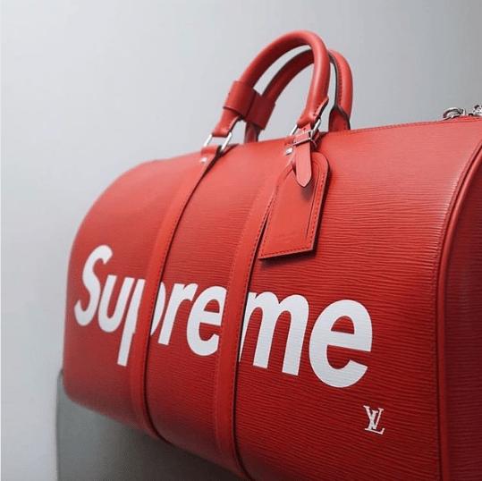 Louis Vuitton x Supreme Epi Keepall Bandouliere Bag