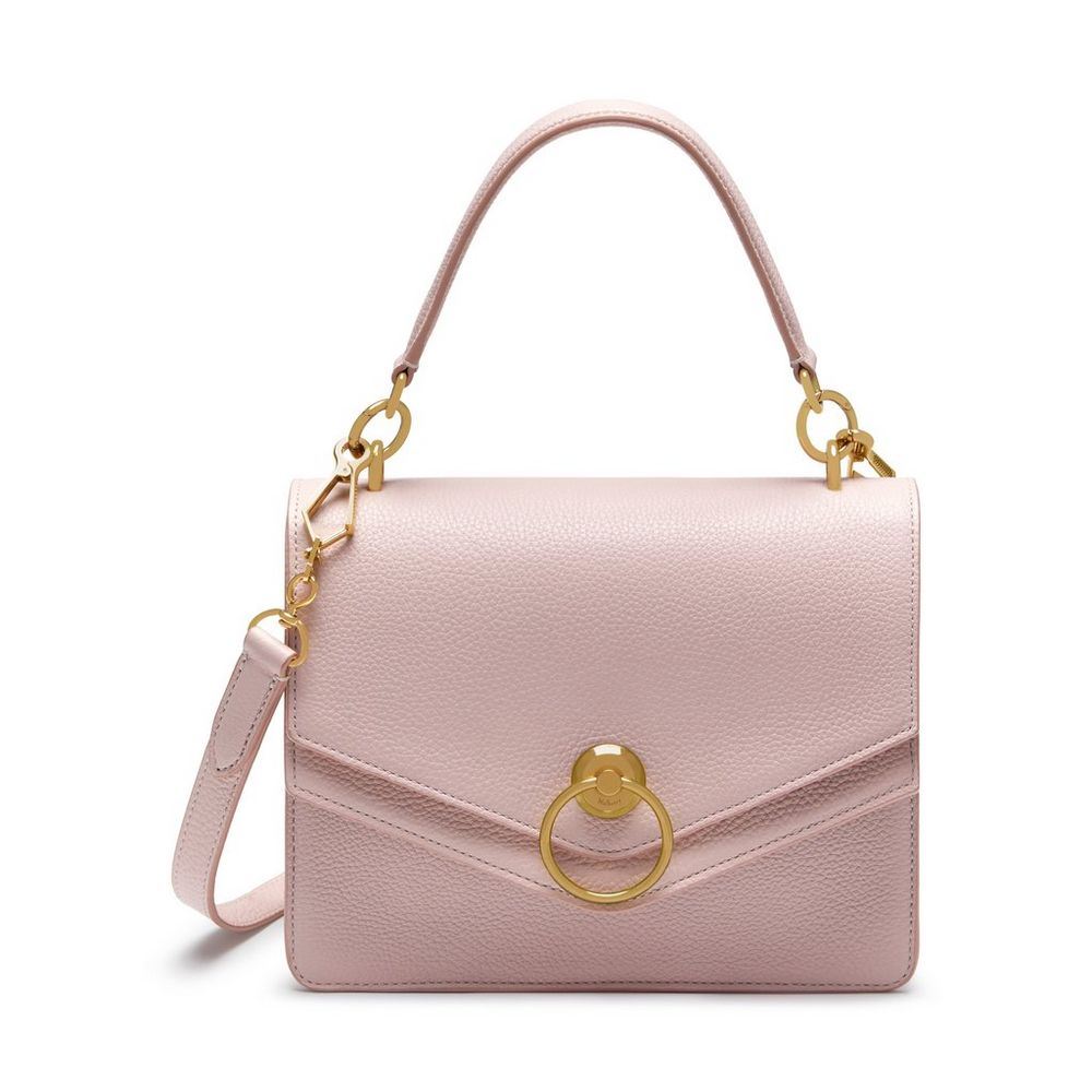 414879f6a97c Mulberry Icy Pink Small Classic Grain Harlow Satchel Bag