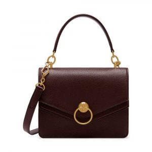 Mulberry Oxblood Small Classic Grain Harlow Satchel Bag