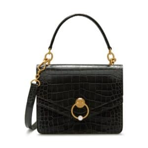 Mulberry Seal Grey Croc Print Harlow Satchel Bag