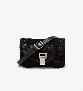 Proenza Schouler Black Crochet PS1+ Mini Crossbody Bag