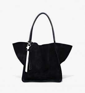 Proenza Schouler Black Extra Large Suede Tote Bag