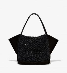 Proenza Schouler Black Macramé L Tote Bag