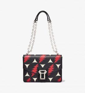 Proenza Schouler Black/Red Grateful Dead Hava Chain Shoulder Bag