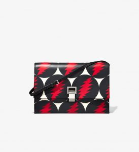Proenza Schouler Black/Red Grateful Dead Small Lunch Bag