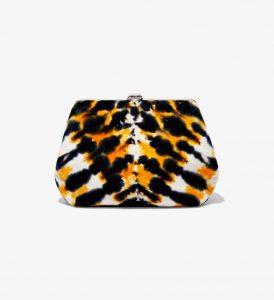 Proenza Schouler Black/Yellow Tie Dye Frame Clutch Bag