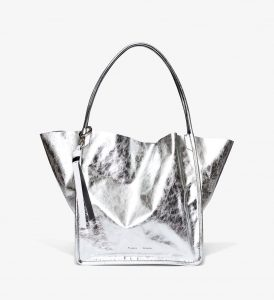 Proenza Schouler Silver Extra Large Metallic Tote Bag