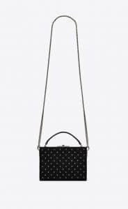 Saint Laurent Black All Over Studs Nan Box Bag