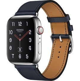 Apple Watch Hermès Series 4 Bleu Indigo Swift Leather Single Tour