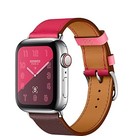 Apple Watch Hermès Series 4 Bordeaux:Rose Extrême:Rose Azalée Swift Leather Single Tour