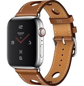 Apple Watch Hermès Series 4 Fauve Barenia Leather Single Tour Rallye