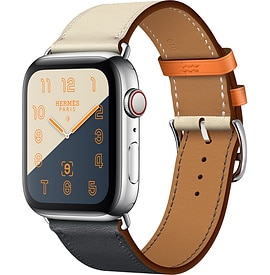 Apple Watch Hermès Series 4 Indigo:Craie:Orange Swift Leather Single Tour