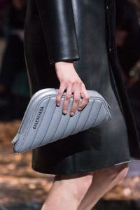 Balenciaga Gray Quilted Clutch Bag - Spring 2019