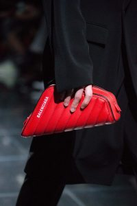 Balenciaga Red Quilted Clutch Bag - Spring 2019