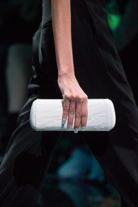 Balenciaga White Monogram Embossed Minaudiere Bag - Spring 2019