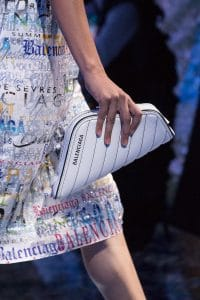 Balenciaga White Quilted Clutch Bag 3 - Spring 2019