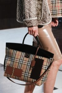 Burberry Brown Check Tote Bag - Spring 2019