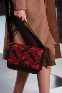 Burberry Burgundy/Red Flap Bag - Spring 2019