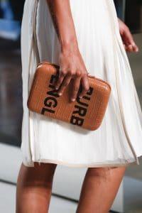Burberry Tan Crocodile Clutch Bag - Spring 2019