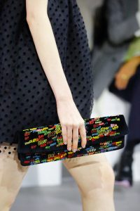 Celine Black Multicolor Embroidered Clutch Bag - Spring 2019