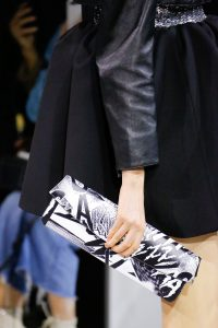 Celine Black/White Printed Clutch Bag - Spring 2019