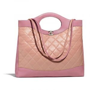 Chanel Beige/Pink Lambskin Chanel 31 Medium Shopping Bag